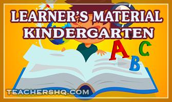 Learner's Materials for Kindergarten