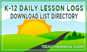 K-12 Daily Lesson Log